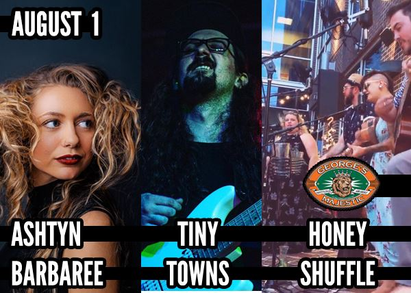 Ashtyn Barbaree w/ Tiny Towns & Honey Shuffle (Free Show)