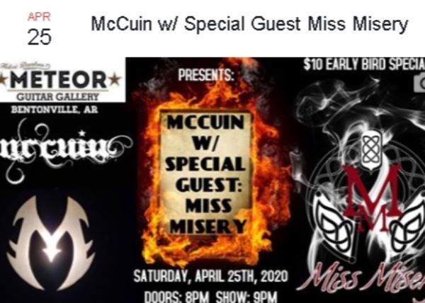 McCuin and Special Guest Miss Misery