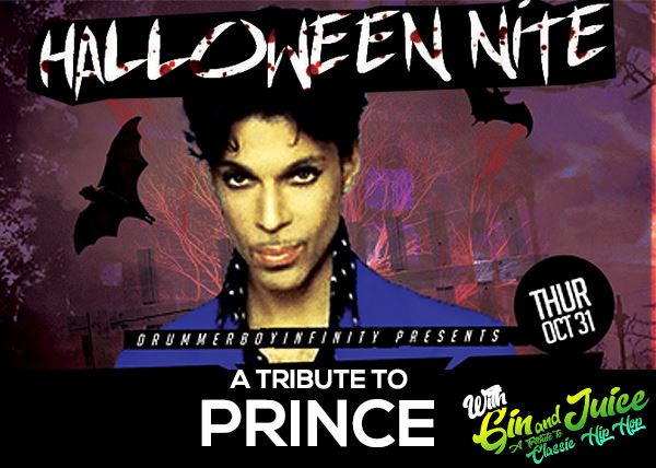 Prince Tribute Halloween Bash with Gin & Juice too!